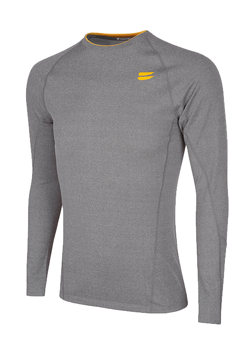 Tribesports Men's Base layer Top Grey