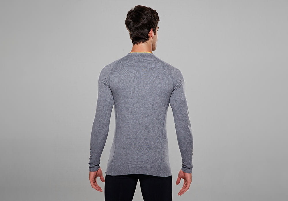 Tribesports Men's Base layer Top Grey 8