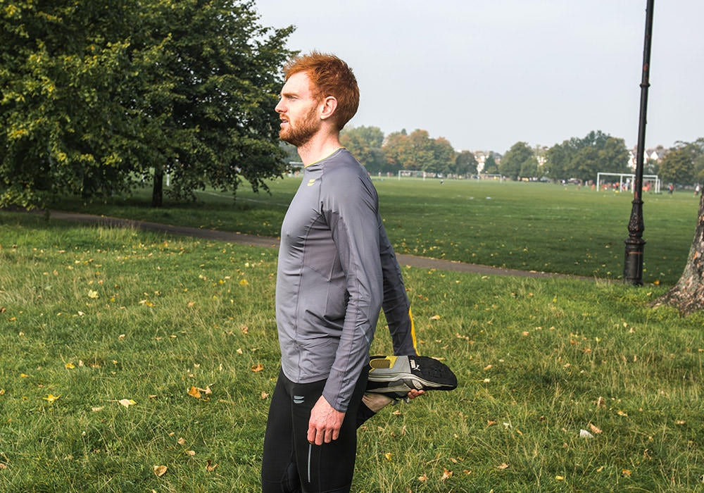Tribesports Core Men Running Long Sleeve Top Charcoal 2