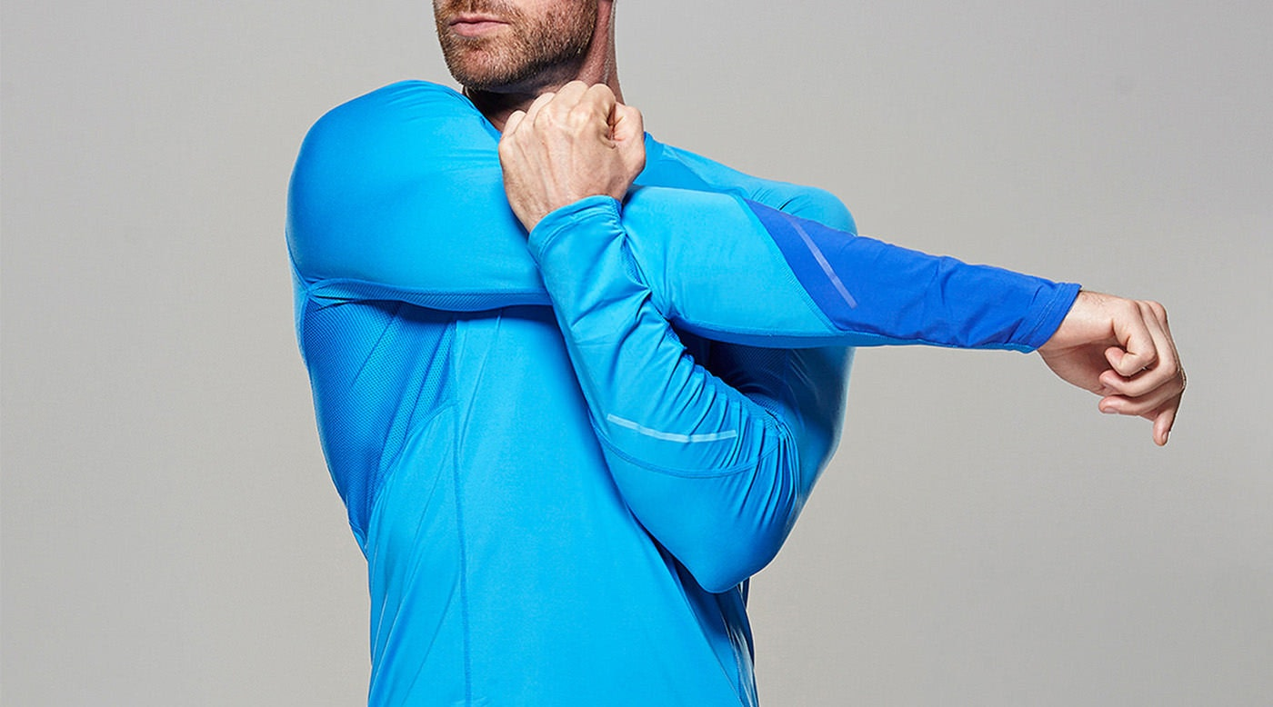 Tribesports Core Men Running Long Sleeve Top Blue 6