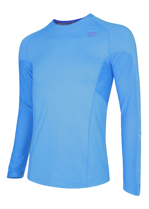 men running top long sleeve Blue