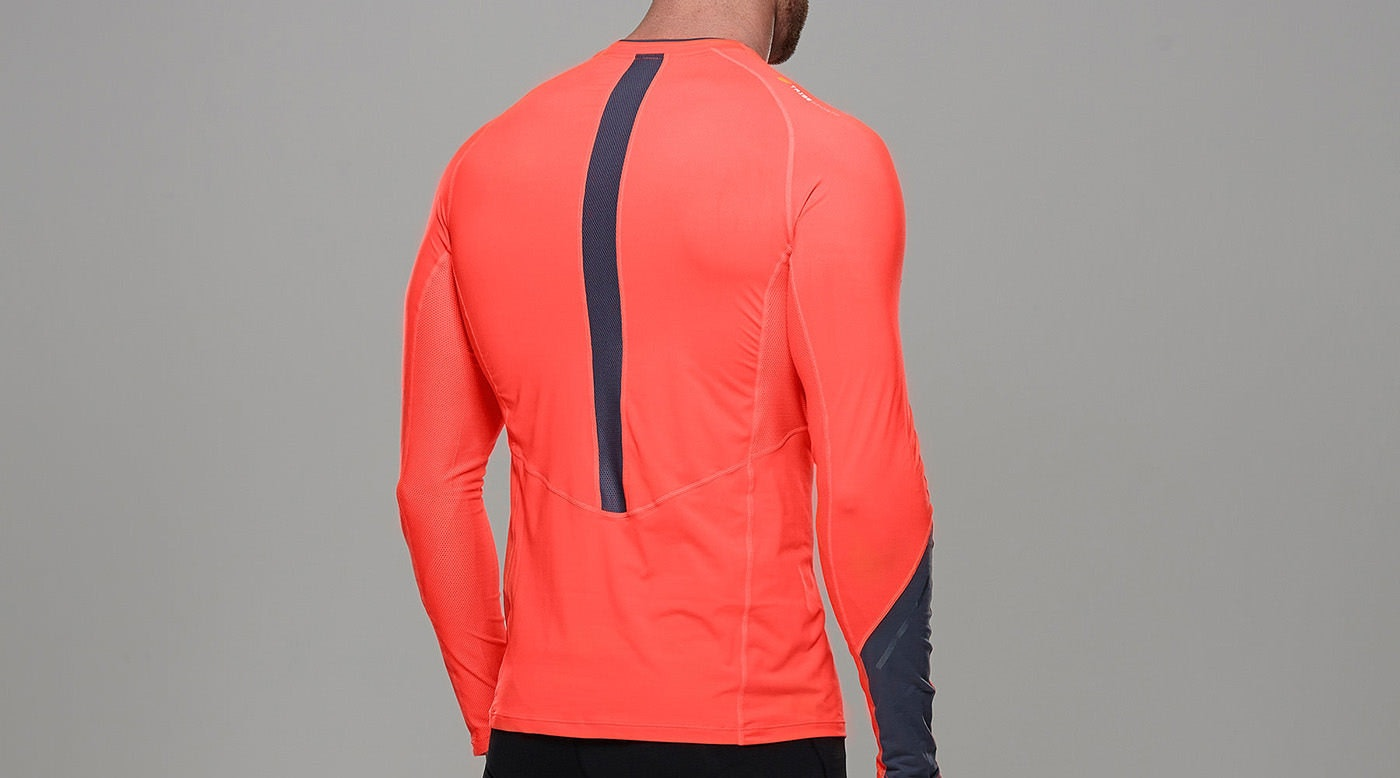 Tribesports Core Men Running Long Sleeve Top Fire Red 6