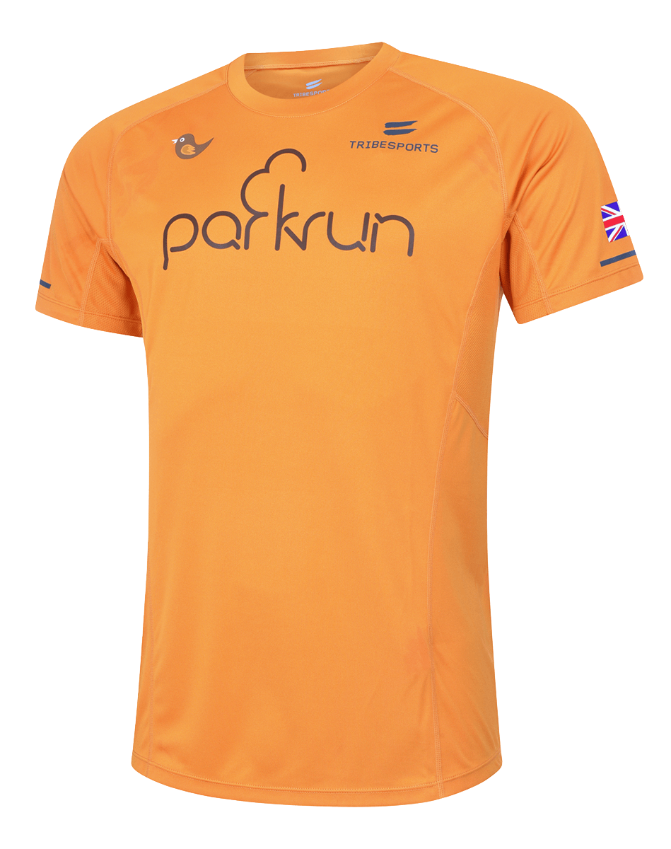 parkrun men's performance long sleeve t-shirt UK