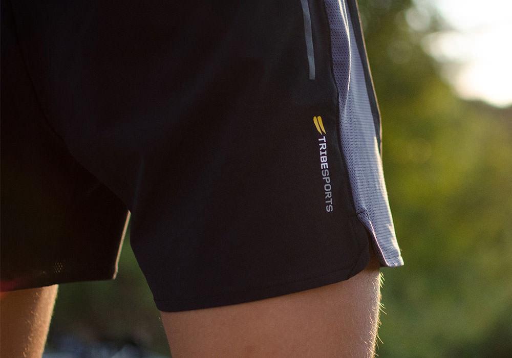 Tribesports Core Men's Running Shorts Black Charcoal 11