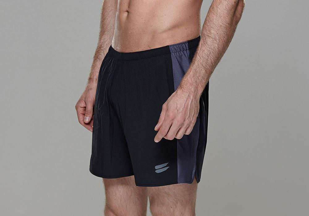 Tribesports Core Men's Running Shorts Black Charcoal 9