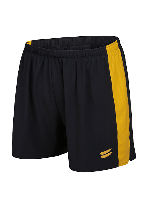 Tribesports Core Men running shorts Black Yellow