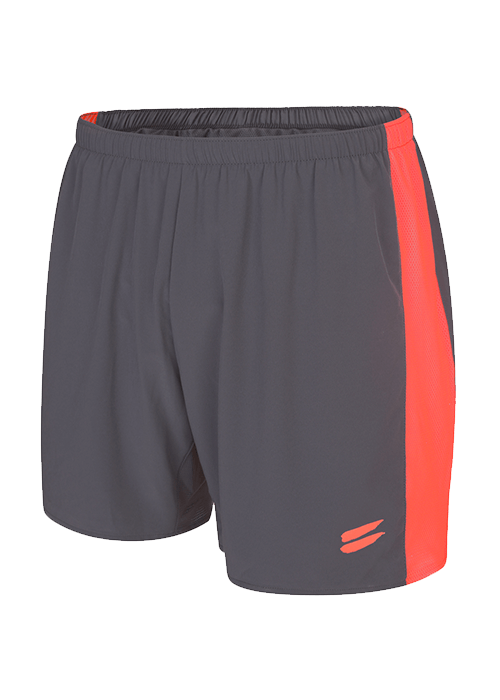 Tribesports Core Men running shorts Charcoal Fire Red