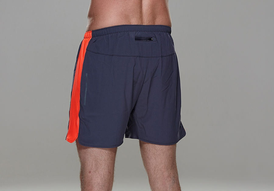 Tribesports Core Men's Running Shorts Charcoal Fire Red 5