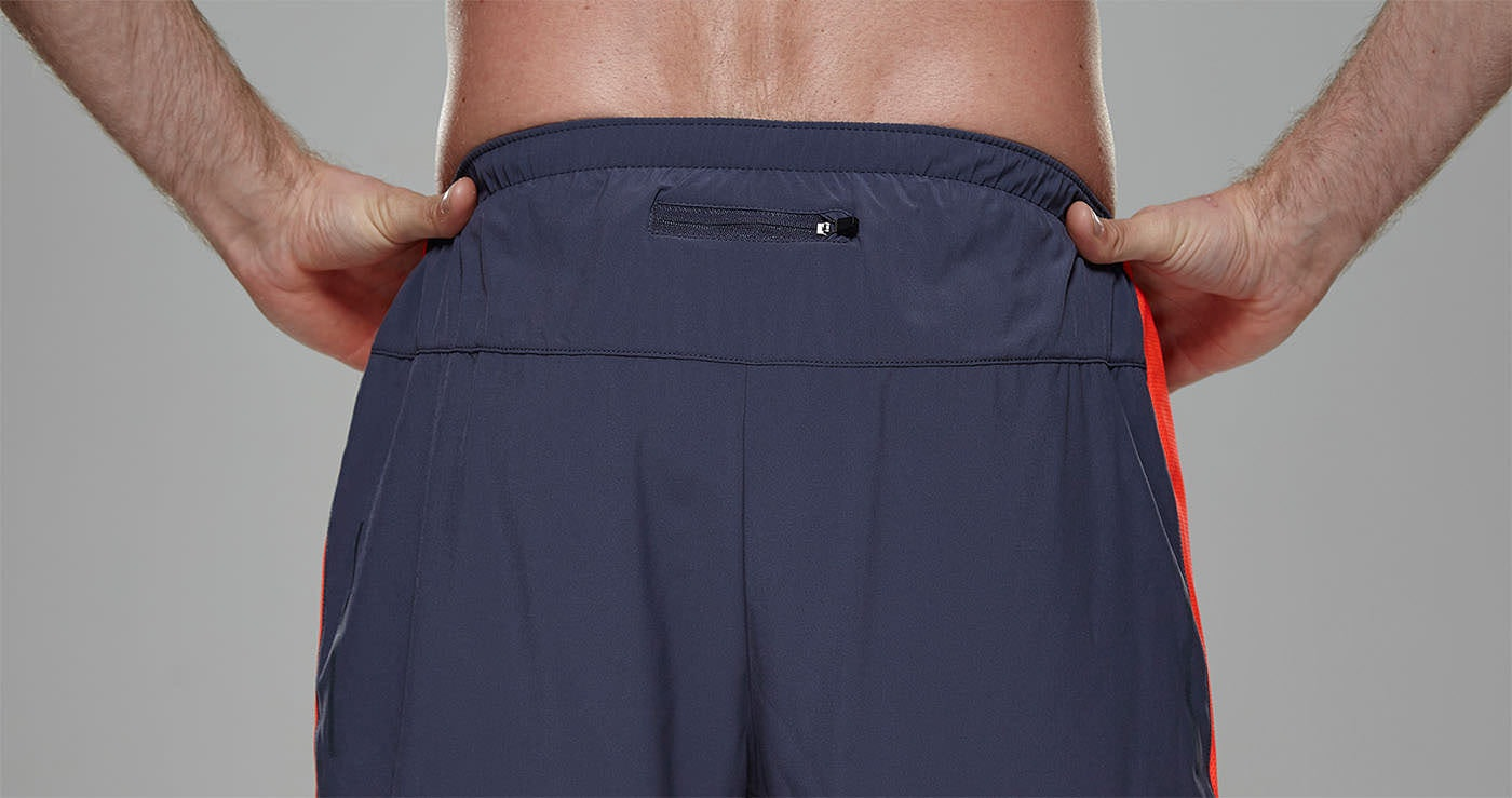 Tribesports Core Men's Running Shorts Charcoal Fire Red 6