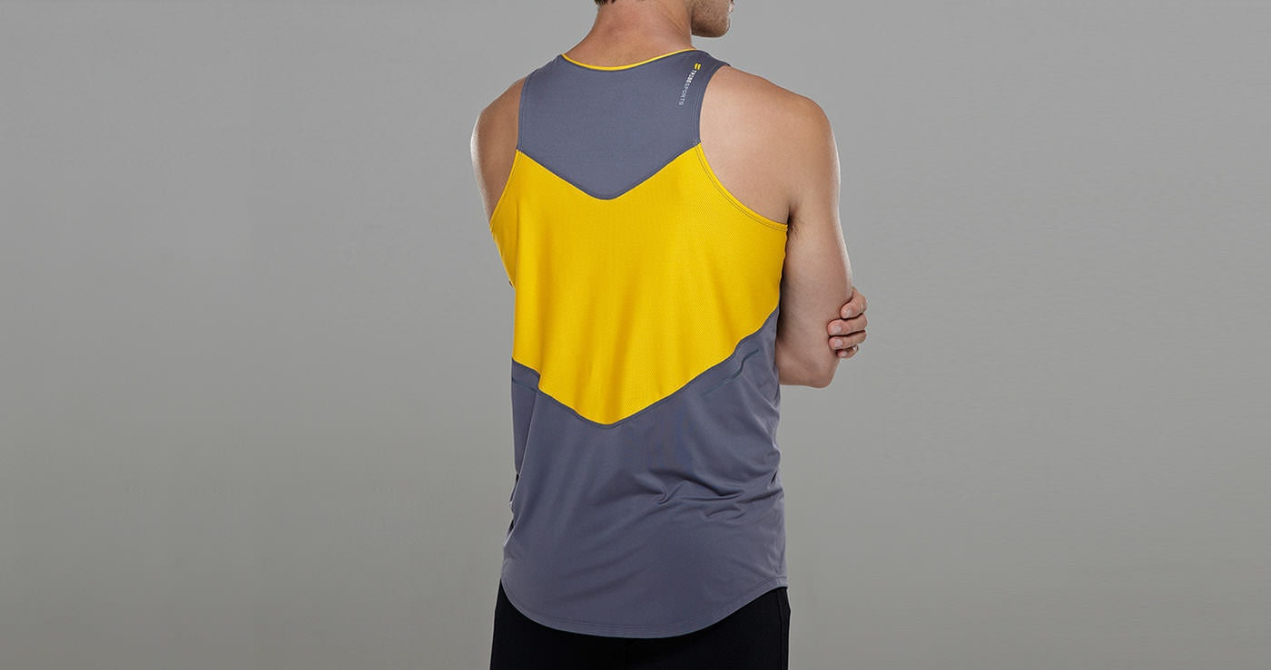 Tribesports Core Running Singlet Charcoal 3