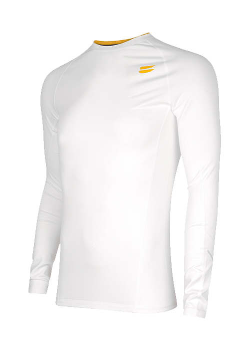 Tribesports Men's Base layer Top White