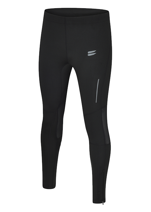 Tribesports Core Men running tights Black Charcoal