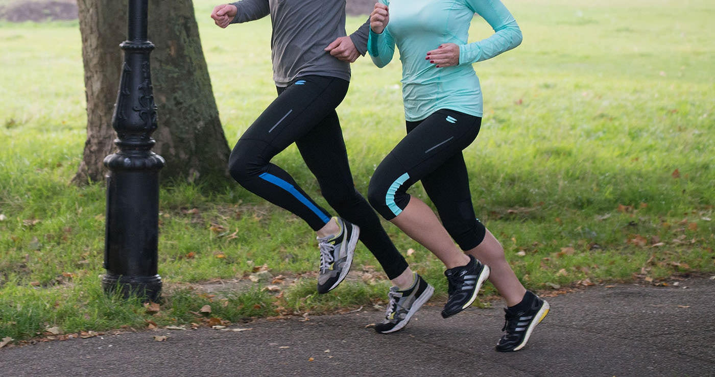 Tribesports Core Men's Running Tights Black Blue 9