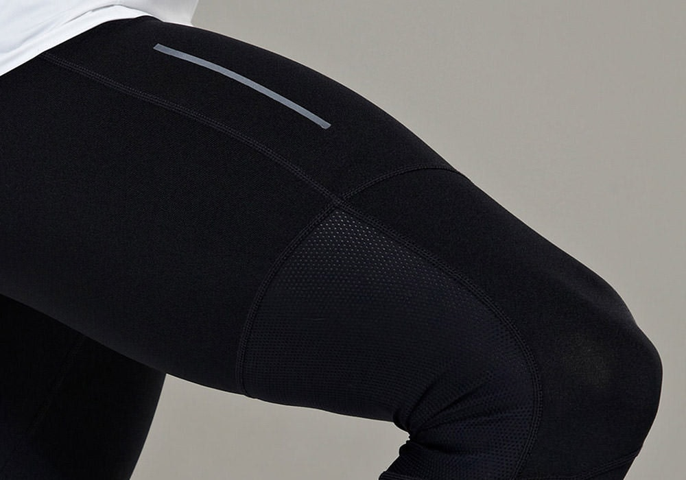 Tribesports Core Men's Running Tights Black Charcoal 5