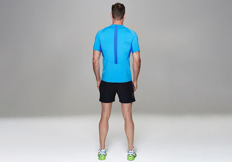 Tribesports Core Men Running Top Short Sleeve Blue 2
