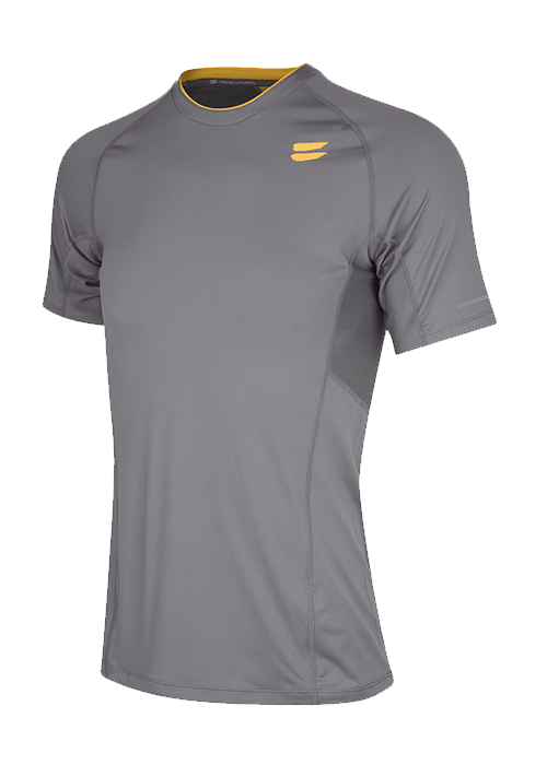 men running top short sleeve Charcoal