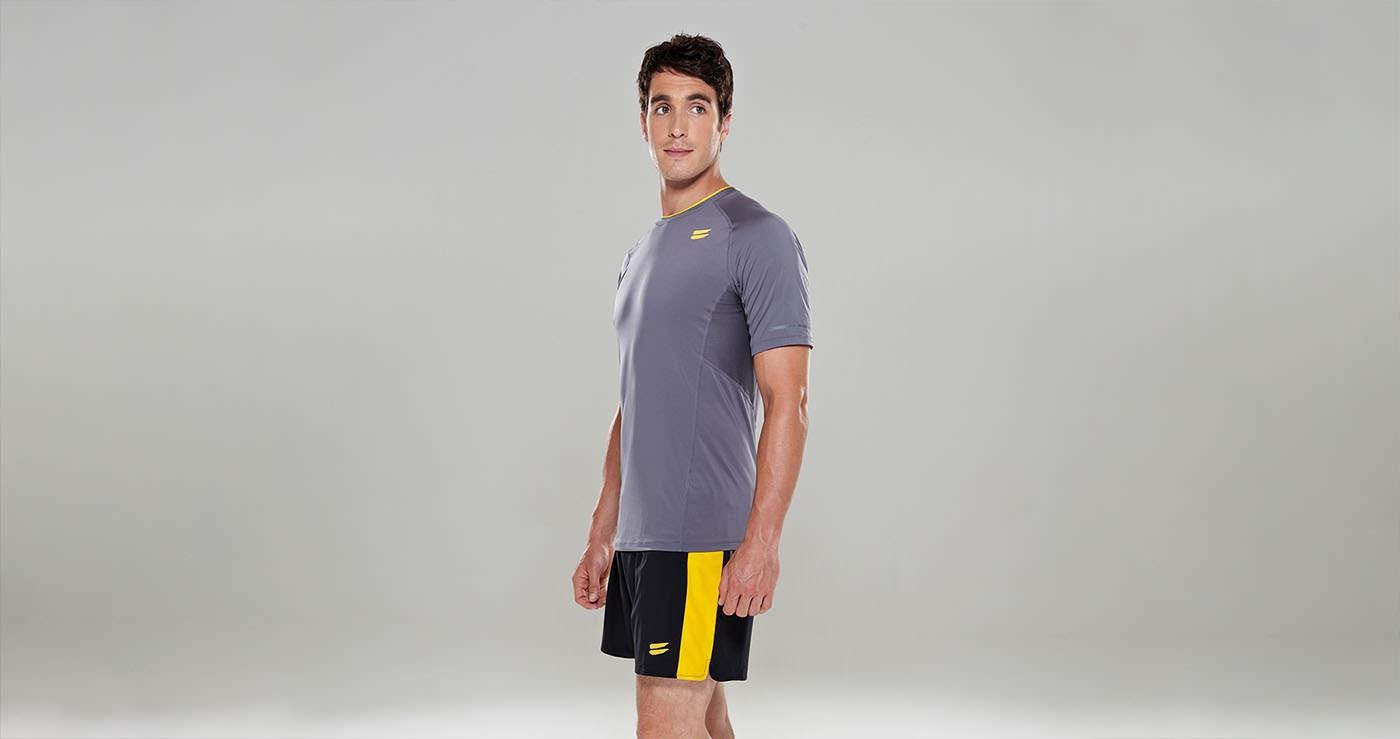 Tribesports Core Men Running Short Sleeve Top Charcoal 5