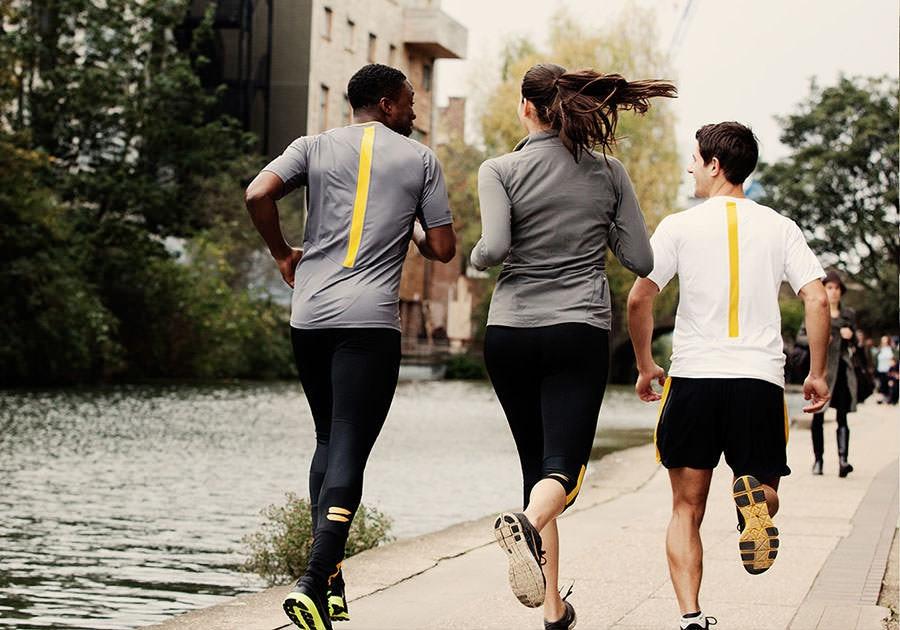Tribesports Core Men Running Short Sleeve Top Charcoal 1