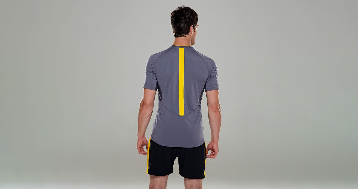 Tribesports Core Men Running Short Sleeve Top Charcoal 6
