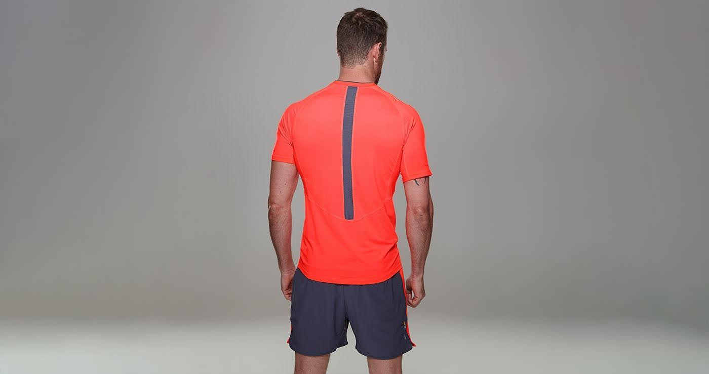Tribesports Core Men Running Short Sleeve Top Red 6