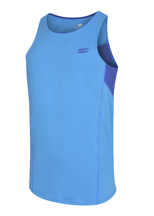 Tribesports Core Running Singlet Blue