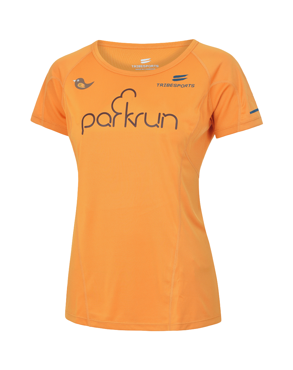parkrun men's performance long sleeve t-shirt Global