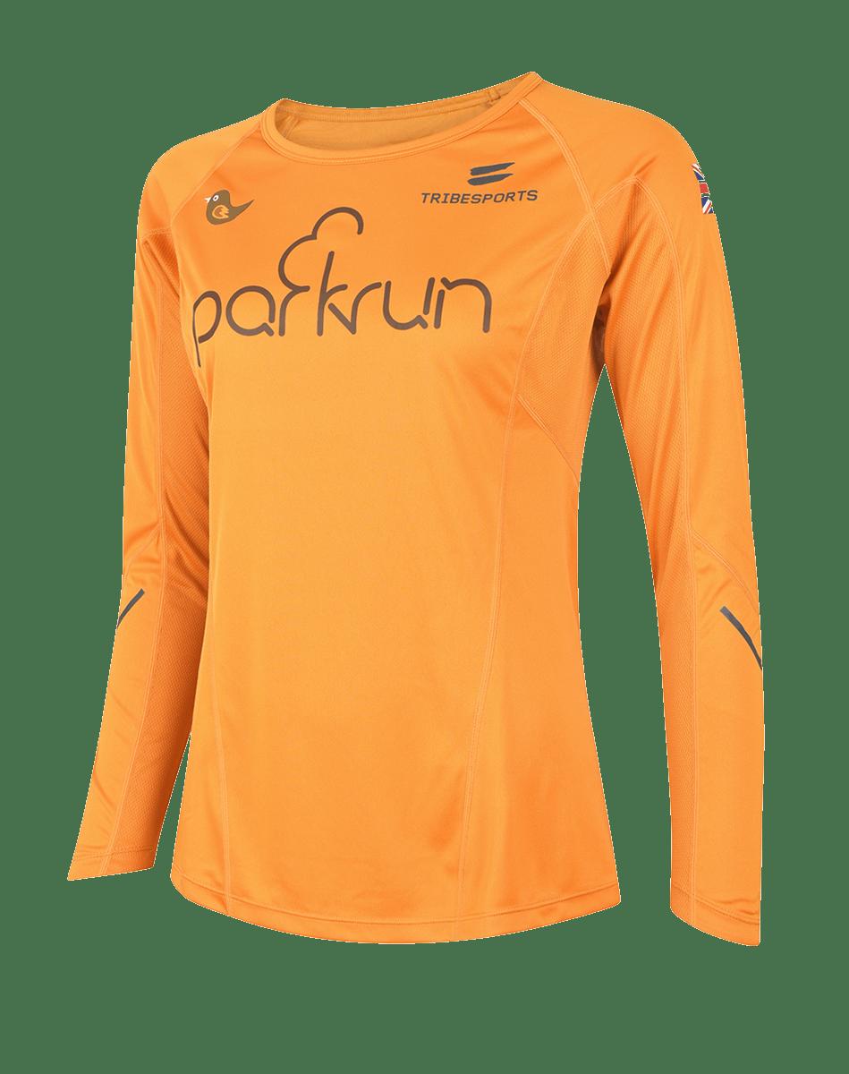 parkrun women's performance long sleeve t-shirt UK