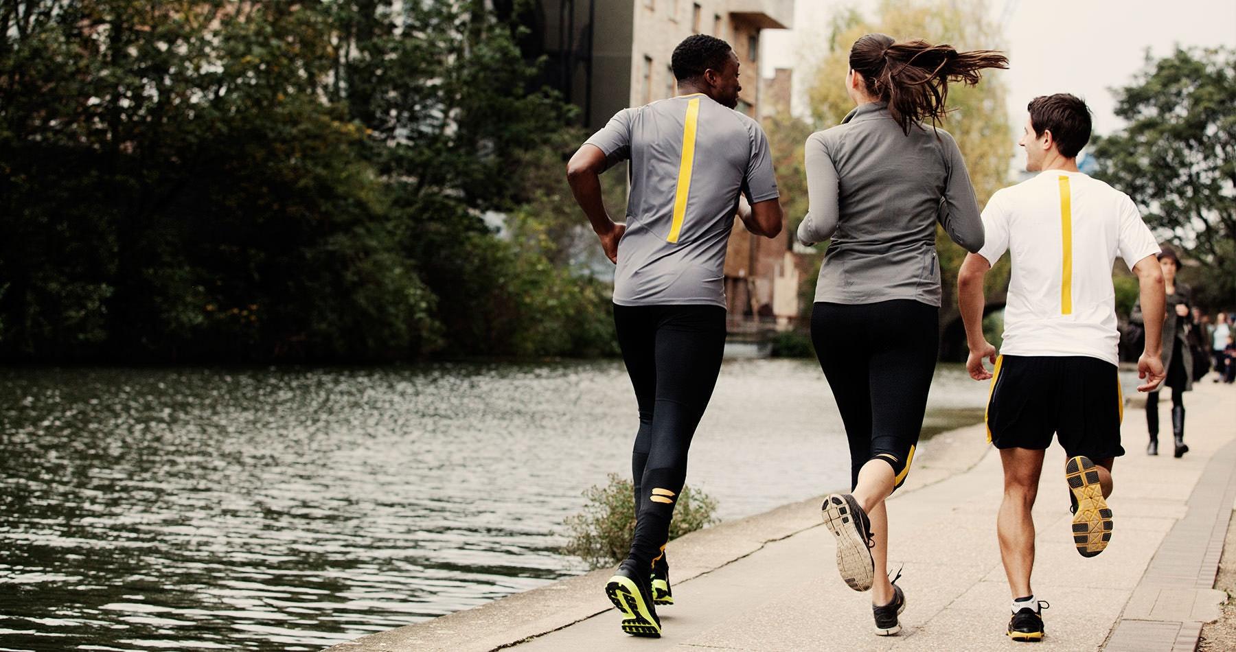 Tribesports Core Women's Running Capris Tights Black Yellow 8