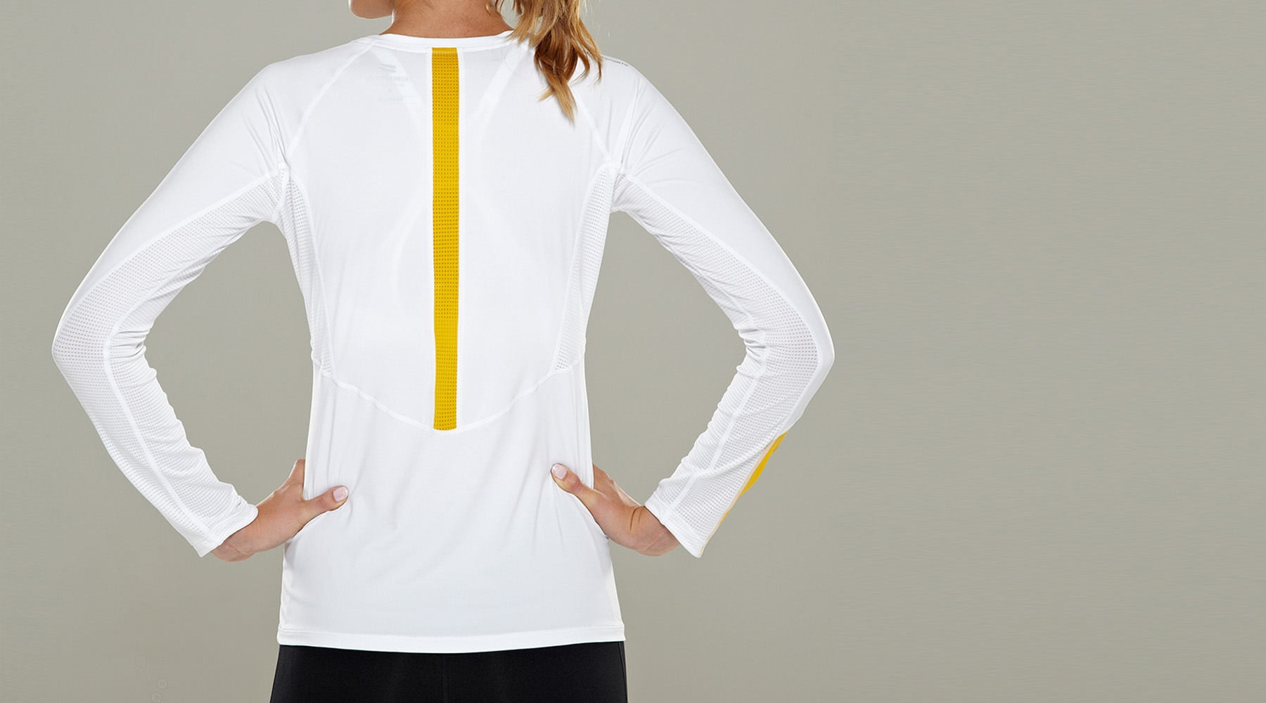 Tribesports Core Women's Long Sleeve Top White  6