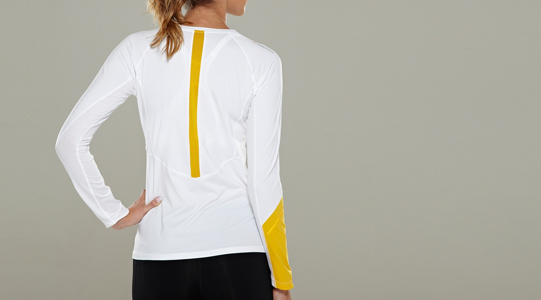 Tribesports Core Women's Long Sleeve Top White  5