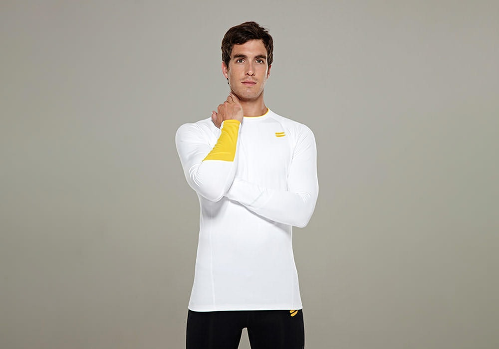 Tribesports Men's Base layer Top White 7