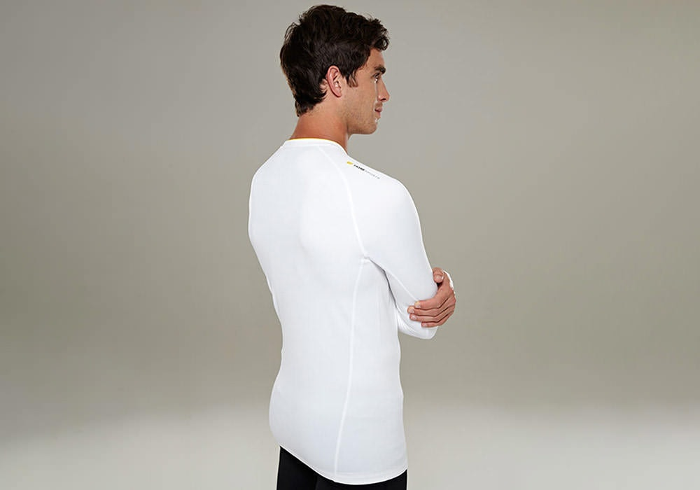 Tribesports Men's Base layer Top White 8