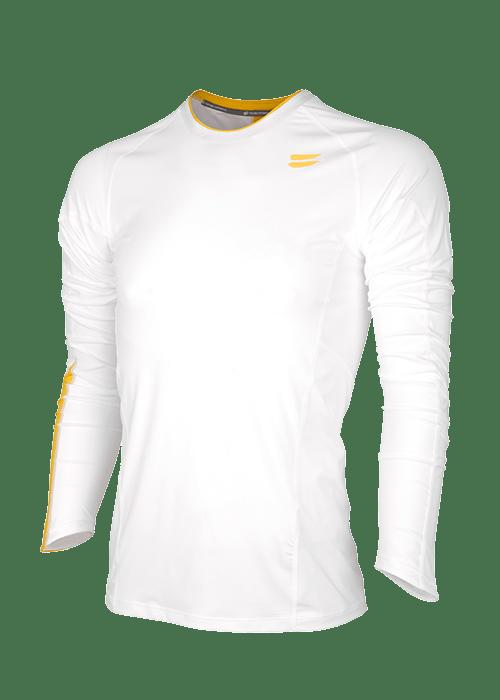 men running top long sleeve White