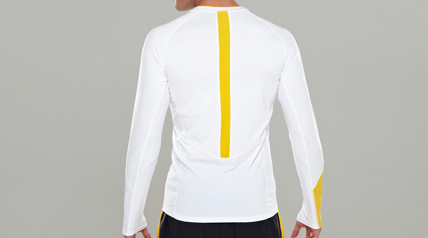Tribesports Core Men Running Long Sleeve Top White 6