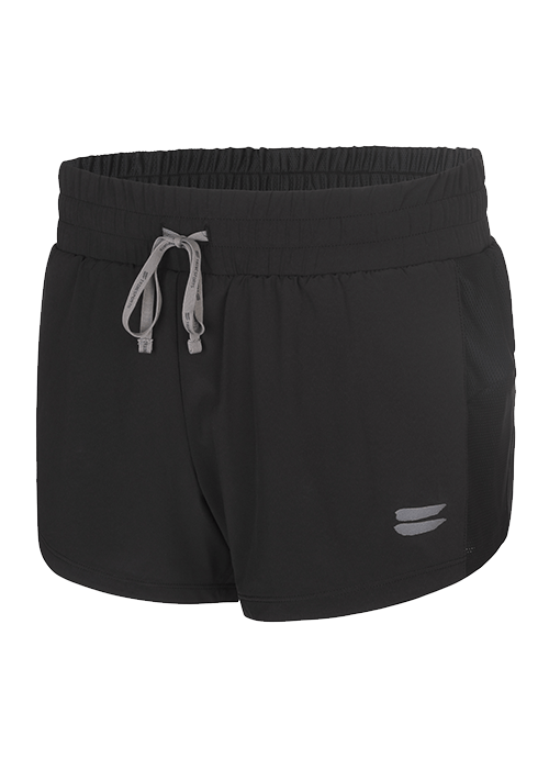 Tribesports Core Women's 2-in-1 Running Shorts Black 2