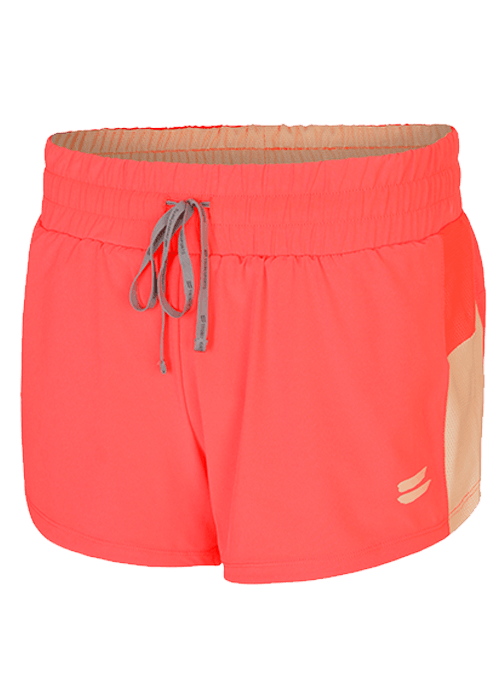 Tribesports Core Women's 2-in-1 Running Shorts Coral 2