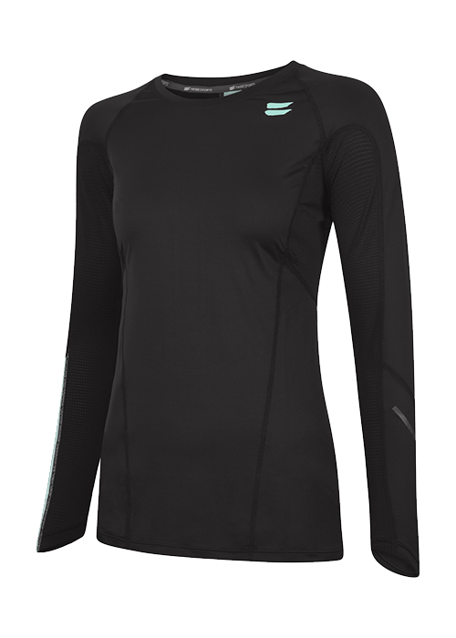 Tribesports Core Women's Long Sleeve Top Black 2