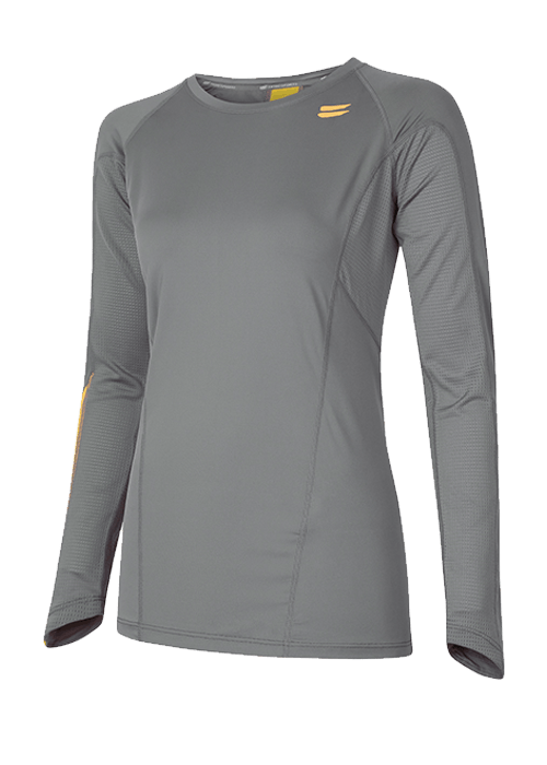 Tribesports Core Women's Long Sleeve Top Charcoal 2