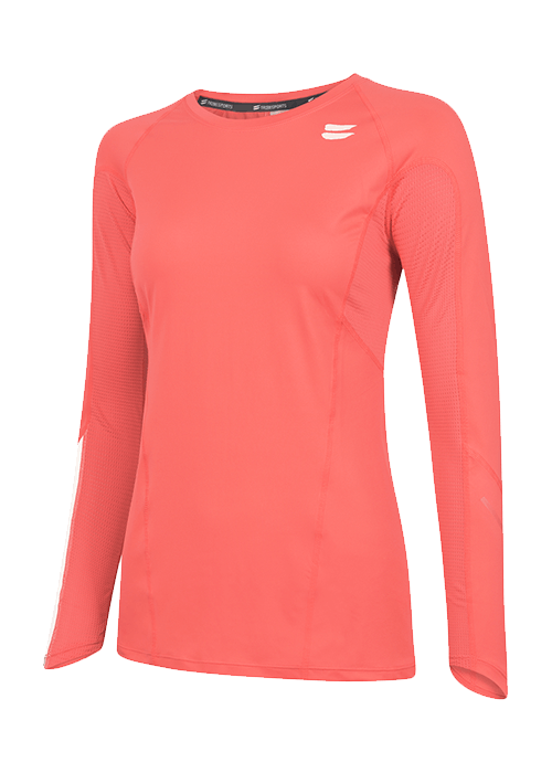Tribesports Core Women's Long Sleeve Top Coral 2