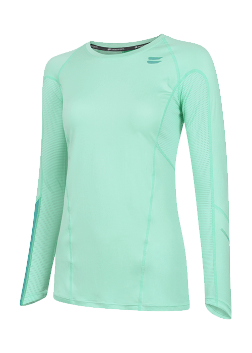 Tribesports Core Women's Long Sleeve Top Turquoise 2