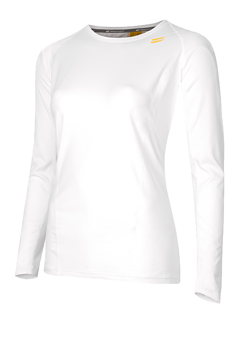 Tribesports Core Women's Long Sleeve Top White 2