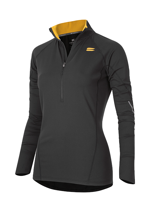 Tribesports Women's Half Zip Mid Layer Charcoal 2