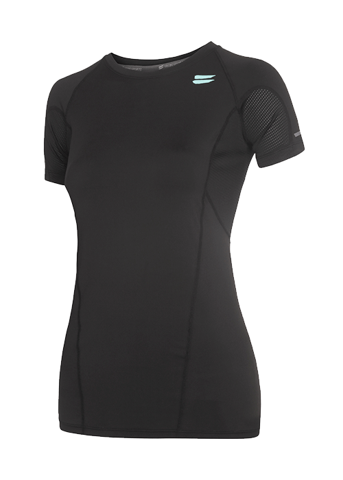 Tribesports Core Women's Short Sleeve Top Black 2