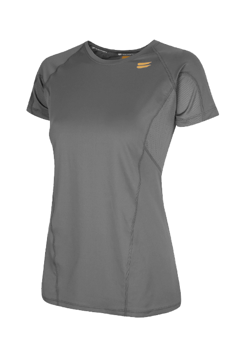 Tribesports Core Women's Short Sleeve Top Charcoal 2