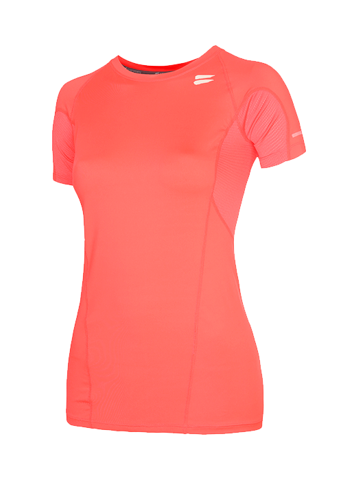 Tribesports Core Women's Short Sleeve Top Coral 2