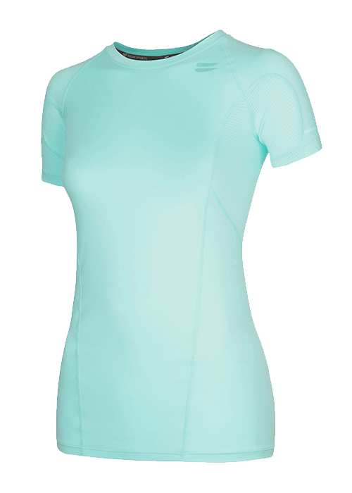 Tribesports Core Women's Short Sleeve Top Turquoise 3