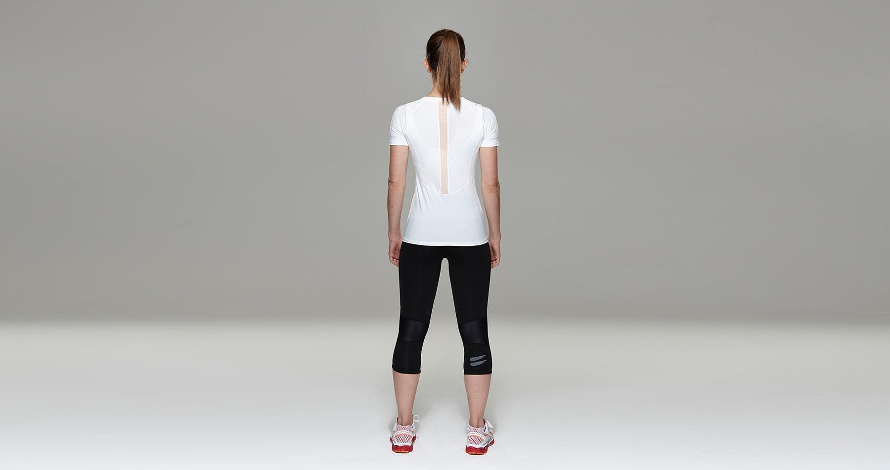 Tribesports Core Women's Short Sleeve Top White Blush  1