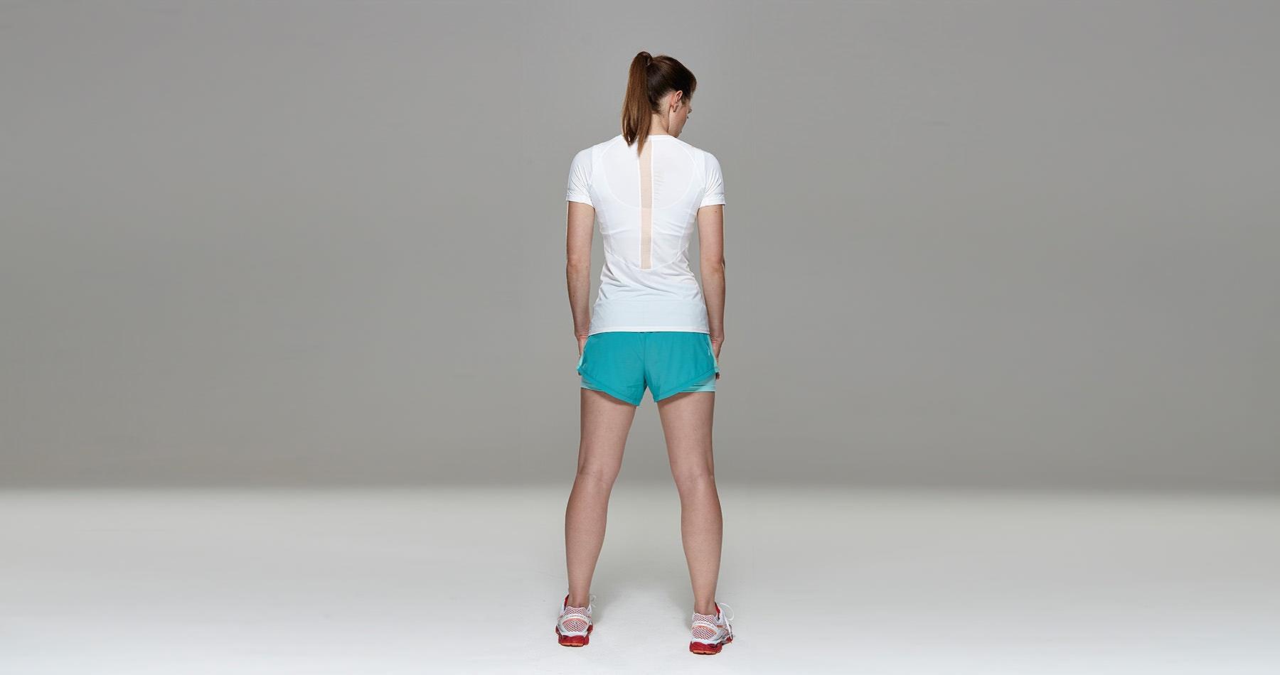 Tribesports Core Women's Short Sleeve Top White Blush  6