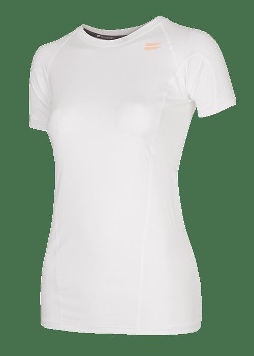 Tribesports Core Women's Short Sleeve Top White Blush 2
