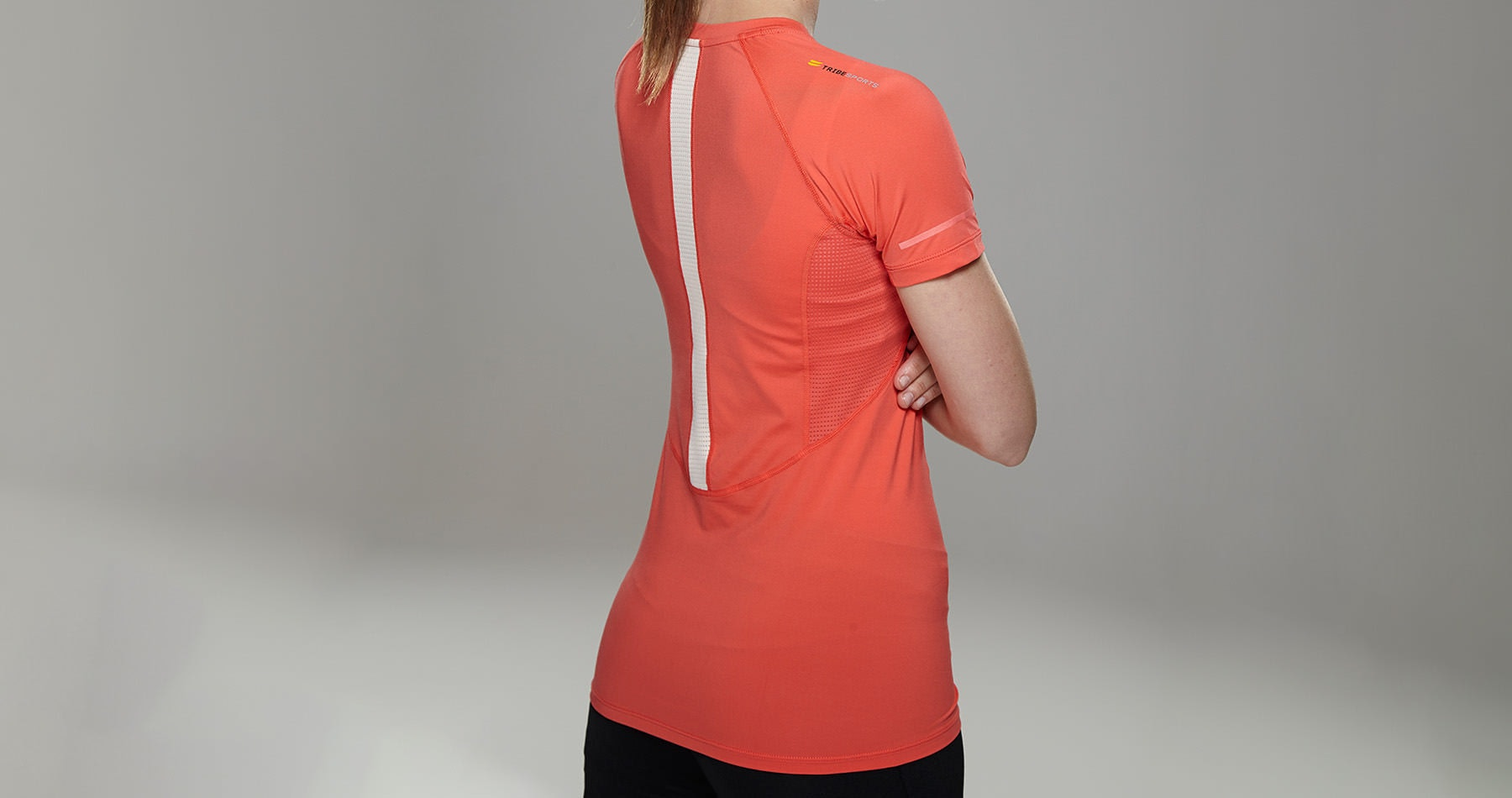 Tribesports Core Women's Short Sleeve Top Coral 3